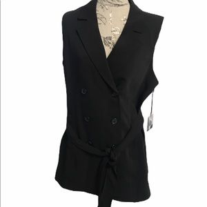 🆕 Simply Vera Wang Black Sleeveless Blazer XL
